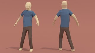 getlinkyoutube.com-| PigArt | BLENDER Timelapse: Low poly human character