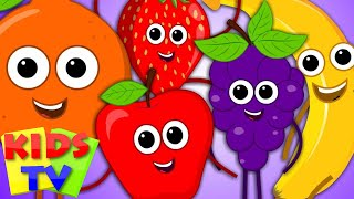 Five Little Fruits | Fruits Song | Learn Fruits | Nursery Rhymes | Kids Songs
