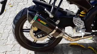 getlinkyoutube.com-Engine sound Yamaha YZF-R15 Akrapovic Full System
