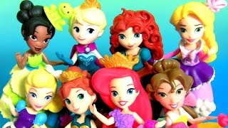 getlinkyoutube.com-Play Doh Princesas da Disney Ariel Anna Elsa Belle Cinderella Rapunzel Little Kingdom Girls Toys
