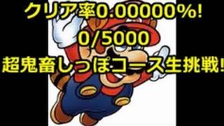 マリオメーカー クリア率0%(0/6000)超鬼畜しっぽマリオコースに挑戦中!2日目
