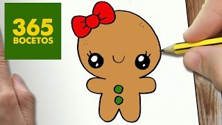 getlinkyoutube.com-COMO DIBUJAR UN GALLETA PARA NAVIDAD PASO A PASO: Dibujos kawaii navideños - How to draw a cookie