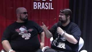 Jovem Nerd e Azaghal entrevista en Estúdio @ YouTube FanFest Brasil 2015
