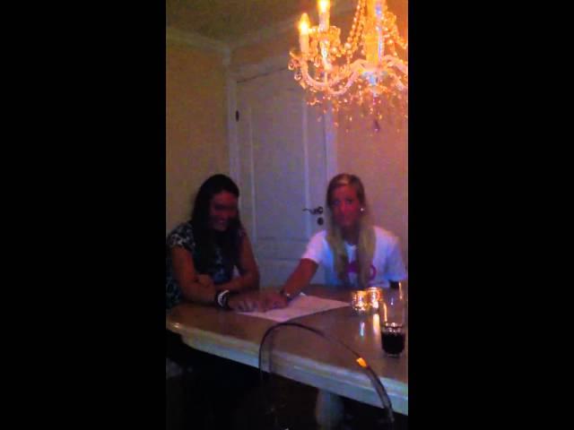 Girls playing with ouija board (spiritism)