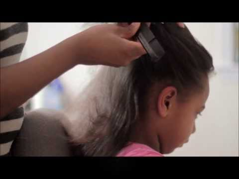 Easy Detangle and Blowdry Hairstyle for Girls