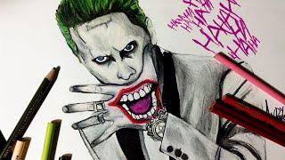 getlinkyoutube.com-Speed Drawing: Jared Leto Joker from Suicide Squad