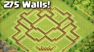 getlinkyoutube.com-NEW Town Hall 10 Trophy Trap Troll Base with 275 Walls! (Titan Base) - Clash of Clans