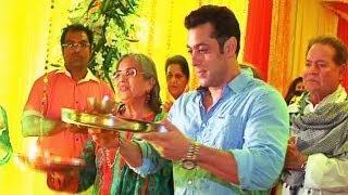 Video - Salman Khan celebrates Ganesh Chaturthi with family at sister Alvira's home