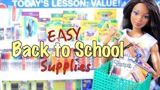 getlinkyoutube.com-DIY - How to Make: EASY - Back to School - Supplies Craft - 4K