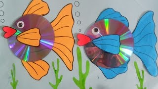 How to Make Gold fish using Paper & CD