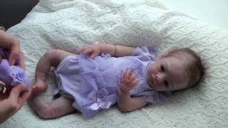 """getlinkyoutube.com-""""Butter"""" #2 of 3 LE - 20.5"""" full body solid silicone baby girl by An Huang"""