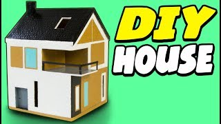 DIY Cardboard House - Scandinavian | Craft Ideas for Kids on Box Yourself