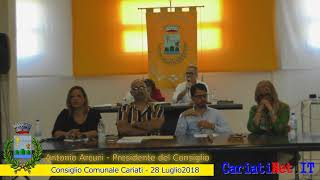 Consiglio Comunale Cariati 28 luglio 2018   (ARCURI CICCIU')