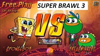 getlinkyoutube.com-SUPER BRAWL 3: SpongeBob vs Breadwinners - Online Games