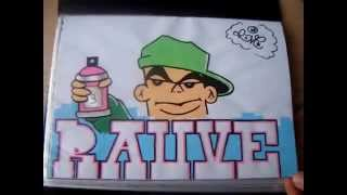getlinkyoutube.com-Graffiti sur papier - Sketchbook - ROvE
