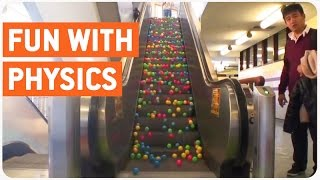 getlinkyoutube.com-Escalator Balls | Fun With Physics
