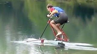 getlinkyoutube.com-Waterbike Hydrofoil Bicycle