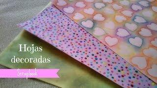getlinkyoutube.com-Hojas decoradas (Scrapbook) + FÁCIL