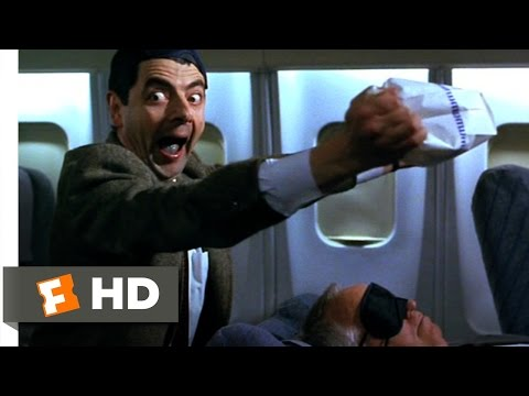 Bean (2/12) Movie CLIP - Air Sickness (1997) HD