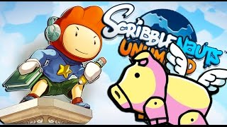getlinkyoutube.com-PIGS CAN FLY | Scribblenauts Unlimited #1