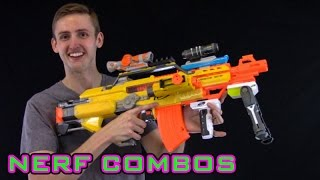 getlinkyoutube.com-NERF COMBOS | STAMPEDE