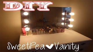 getlinkyoutube.com-DIY Vanity Mirror with Lights/ EASY AND CHEAP!