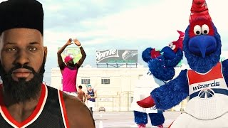 "getlinkyoutube.com-NBA 2k15 MyPARK Gameplay - LEGEND 3 Mascot Gets HUMILIATED by 6'8"" Forward! Bridges vs G. Wiz"