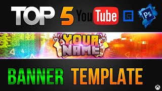 TOP 5│Youtube Channel Banner Template [Photoshop] HD FREE + Download