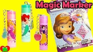 getlinkyoutube.com-Disney Princess Sofia the First Imagine Ink Magic Coloring Book with Lip Balm Surprises