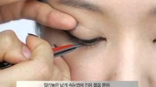 getlinkyoutube.com-인조 낱개 속눈썹 붙이기_Attaching artificial eyelash pieces