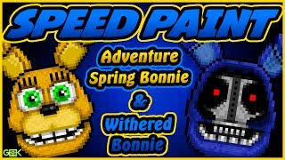 ► Adventure Spring Bonnie - SPEEDPAINT - FNAF World - Pixel art