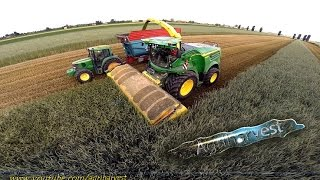 getlinkyoutube.com-NEW JOHN DEERE 8600i at work with Zurn Profi Cut | Silage 2015| -GoPro- [FULL HD]