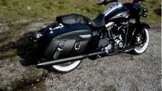"2011 FLHRC Road King Classic ""Blackened"" W/ Rinehart 4"" Xtreme True Duals Black"