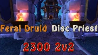 getlinkyoutube.com-2300 Feral Druid Disc Priest 2v2 World of Warcraft Warlord of Draenor