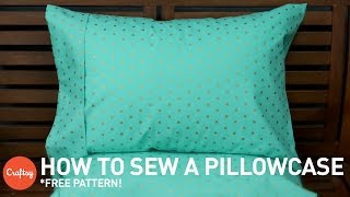 getlinkyoutube.com-How to sew a pillowcase (with free pattern) | Sewing Tutorial with Angela Wolf