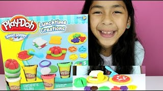 getlinkyoutube.com-Tuesday Play Doh Lunch Time Creations |Play Doh Pizza, Sandwich,Cookies and Fruits
