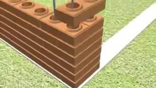 getlinkyoutube.com-How to build a house by interlocking brick lego block, eco brava blocks