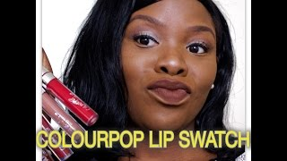 getlinkyoutube.com-9 ColourPop Ultra Matte Lip Swatches on Dark Skin
