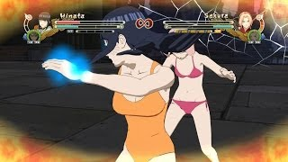 getlinkyoutube.com-Hinata Swimsuit & Naruto vs Sakura Swimsuit & Tsunade Swimsuit - Naruto Ninja Storm 3 Full Burst