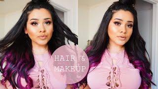 getlinkyoutube.com-Hair & Makeup Talk Trough | Glam Seamless Hair Extensions