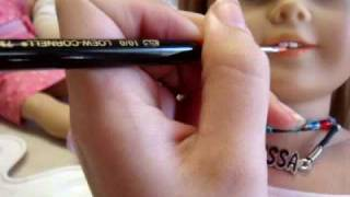 getlinkyoutube.com-How to Re-paint your American Girl Doll's Pale Lips