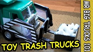 getlinkyoutube.com-GARBAGE & TRASH TRUCK HARD AT WORK FOR KIDS: MrBigTrucks101