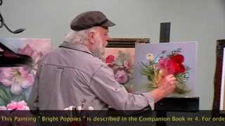"getlinkyoutube.com-The Beauty of Oil Painting, Behind the scenes, Episode 7 : "" Bright Poppies """