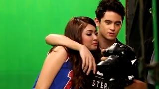 getlinkyoutube.com-Nadine Lustre & James Reid -: mvshoot Sweet moments! PARA PARAAN- (fr Talk Back and You're Dead)