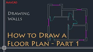 getlinkyoutube.com-AutoCAD 2D Basics - Tutorial to draw a simple floor plan (Fast and efective!) PART 1