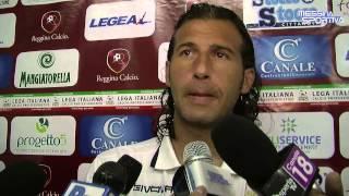 Giorgio Corona al termine del derby vinto dalla Reggina al