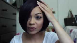 getlinkyoutube.com-Wig Review: Freetress Equal L Part Wig - BlackJack DNHONEY DNBLBK