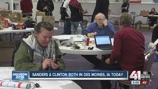 getlinkyoutube.com-Bernie Sanders and Hillary Clinton in Des Moines, Iowa today