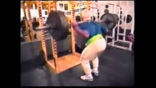 Tom Platz squatting, W.A.S.P. playing...