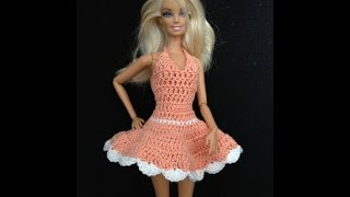 getlinkyoutube.com-Croche /Vestidinho para barbie 2/1- LiiArt
